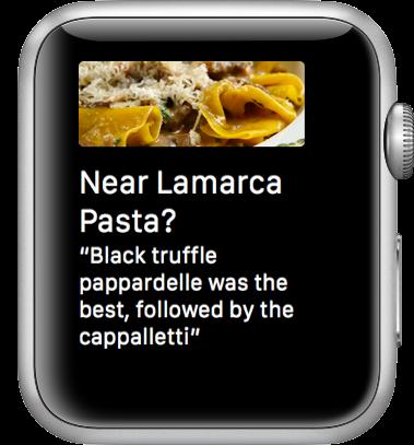 Foursquare glance screenshot