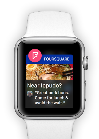 Foursquare for Apple Watch