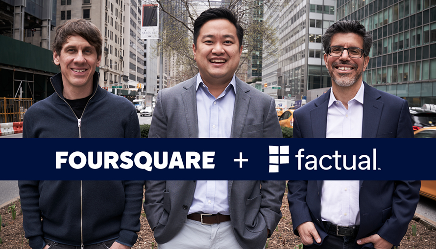 Foursquare and Factual join forces
